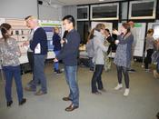 Interesting conversations during the poster session