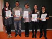 DCPS prizes at Havel Spree Colloquium 2015 were awarded to: Elena Ulbricht-Jones, Pawel Mikulski, Anne Bremer, Daniela Pezzetta and Louisa Brock (from left to right)