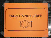 The Havel-Spree-Café was the place to be during lunch and coffee breaks.